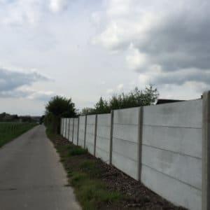 omheining betonpanelen