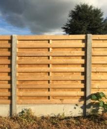 tuinafsluiting beton hout
